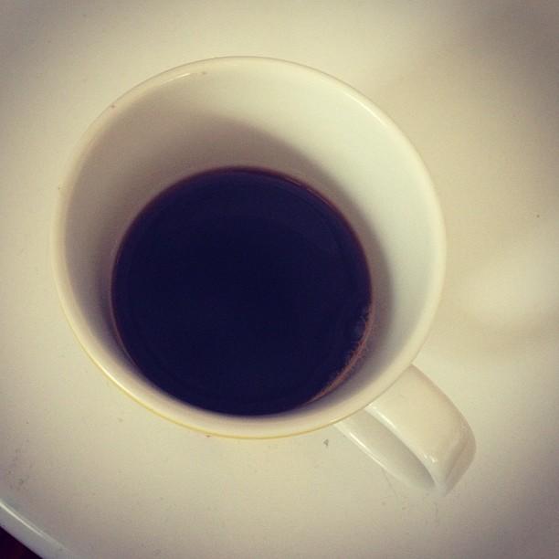 Oftast blir det svart kaffe nu. Jag som alltid föredragit en latte ???? #lchf #lchf10veckor