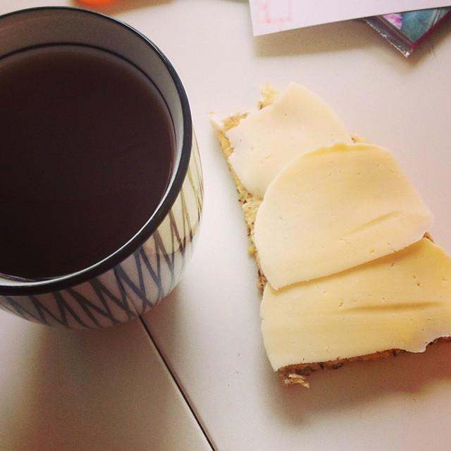 Te och ostmacka på kesobröd #lchf #lchf10veckor