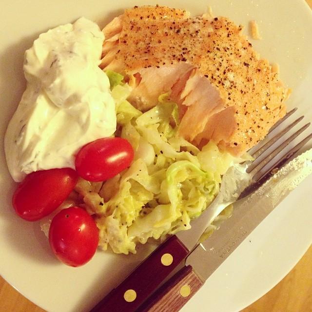 Min middag! #lchf #lchf10veckor #lax