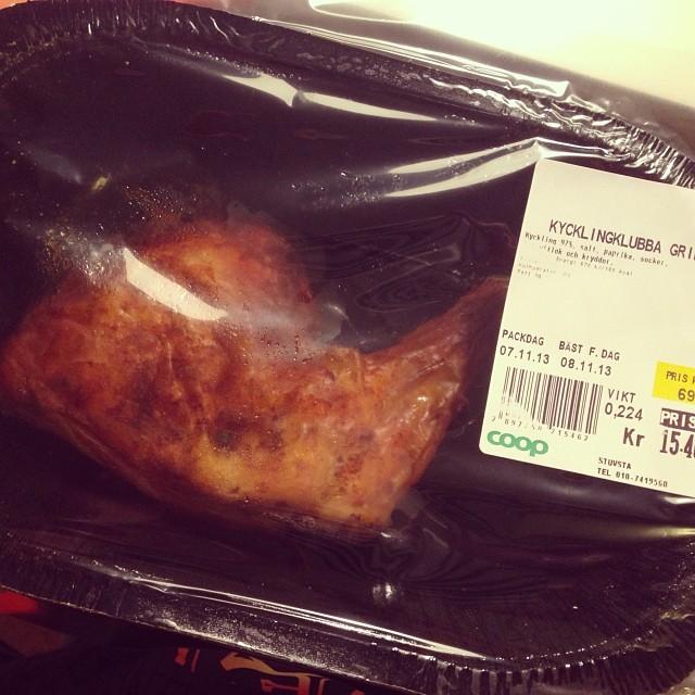 Min middag. De andra får hemmagjord pizza (ej lchf). #lchf #lchf10veckor