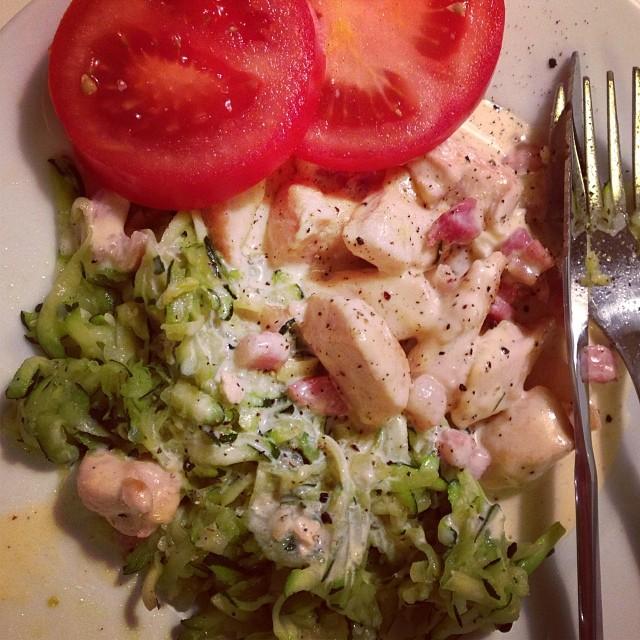 """""""Pasta carbonara"""" fast på ett nyttigare och bättre sätt! ???? #lchf #lchf10veckor"""