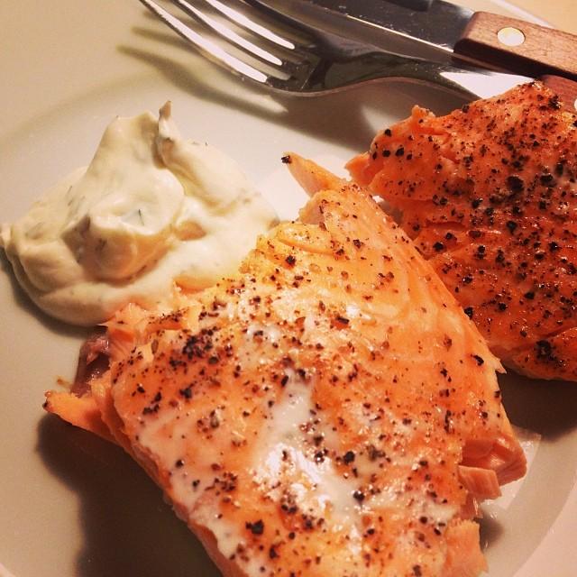 Lax med sås #lax #lchf #lchf10veckor #omega3 #fetfisk #fisk