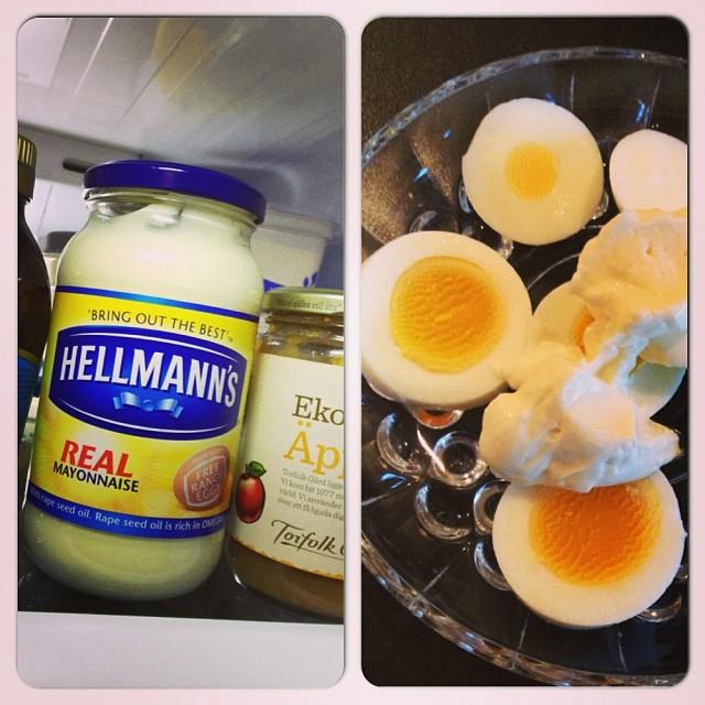 Min sena lunch... Denna majonäs kan rekommenderas (iafl rent smakmässigt). Godare än vad jag trodde! #lchf #lchf10veckor