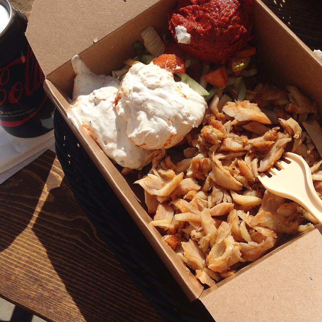 Kycklingkebab i låda