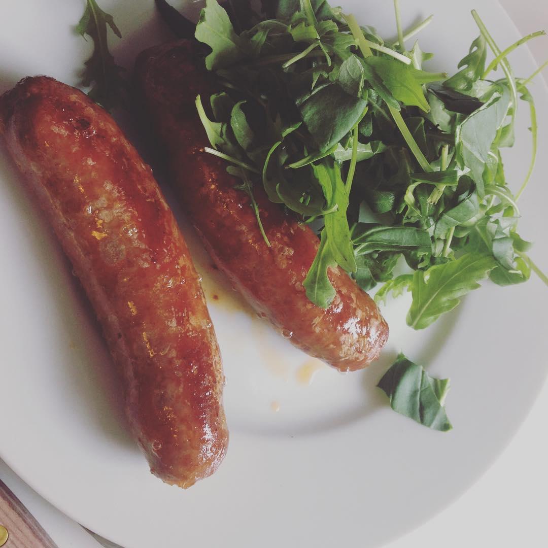 Lunch - chorizo och ruccola